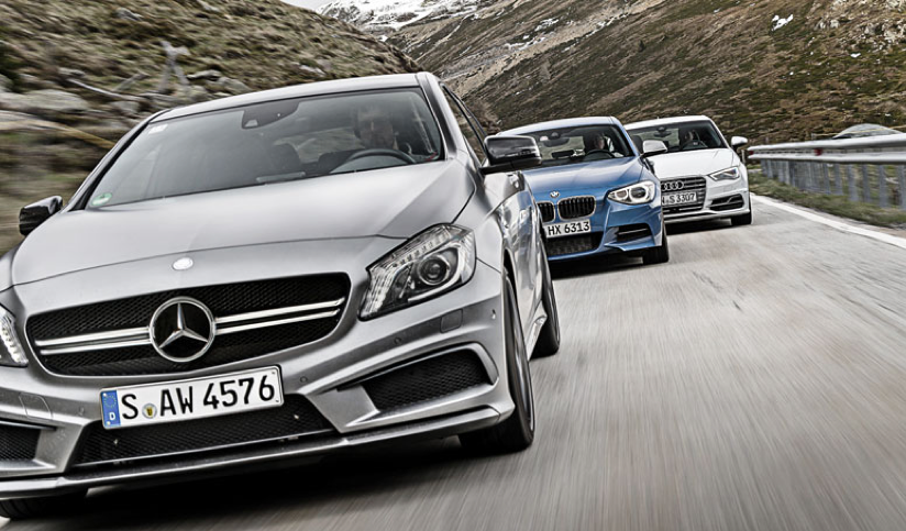 Bmw m135i vs mercedes benz a45 amg vs audi s3 comparative for Bmw and mercedes benz