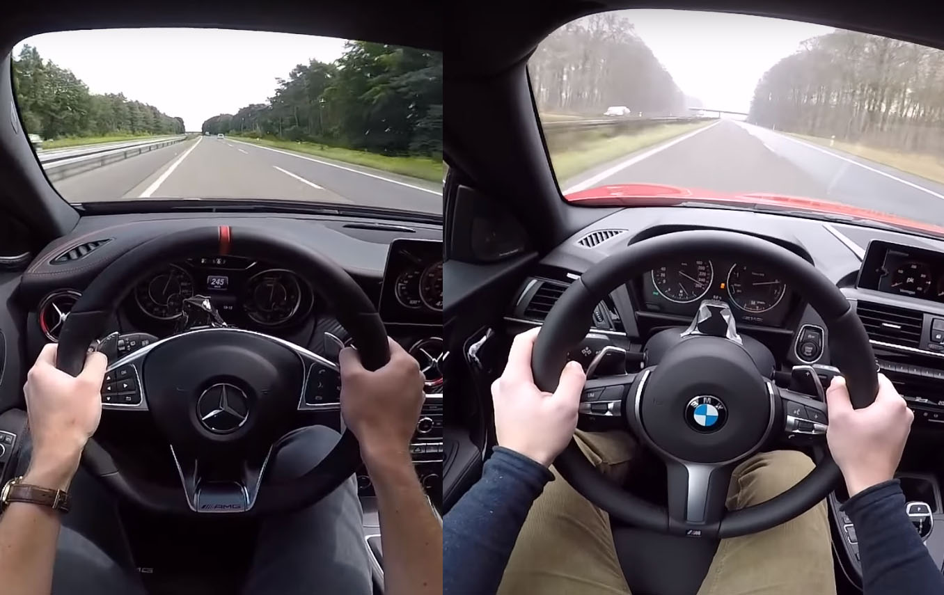 Bmw M140i Vs Mercedes Amg A45 0 155 Mph Acceleration Test Is A