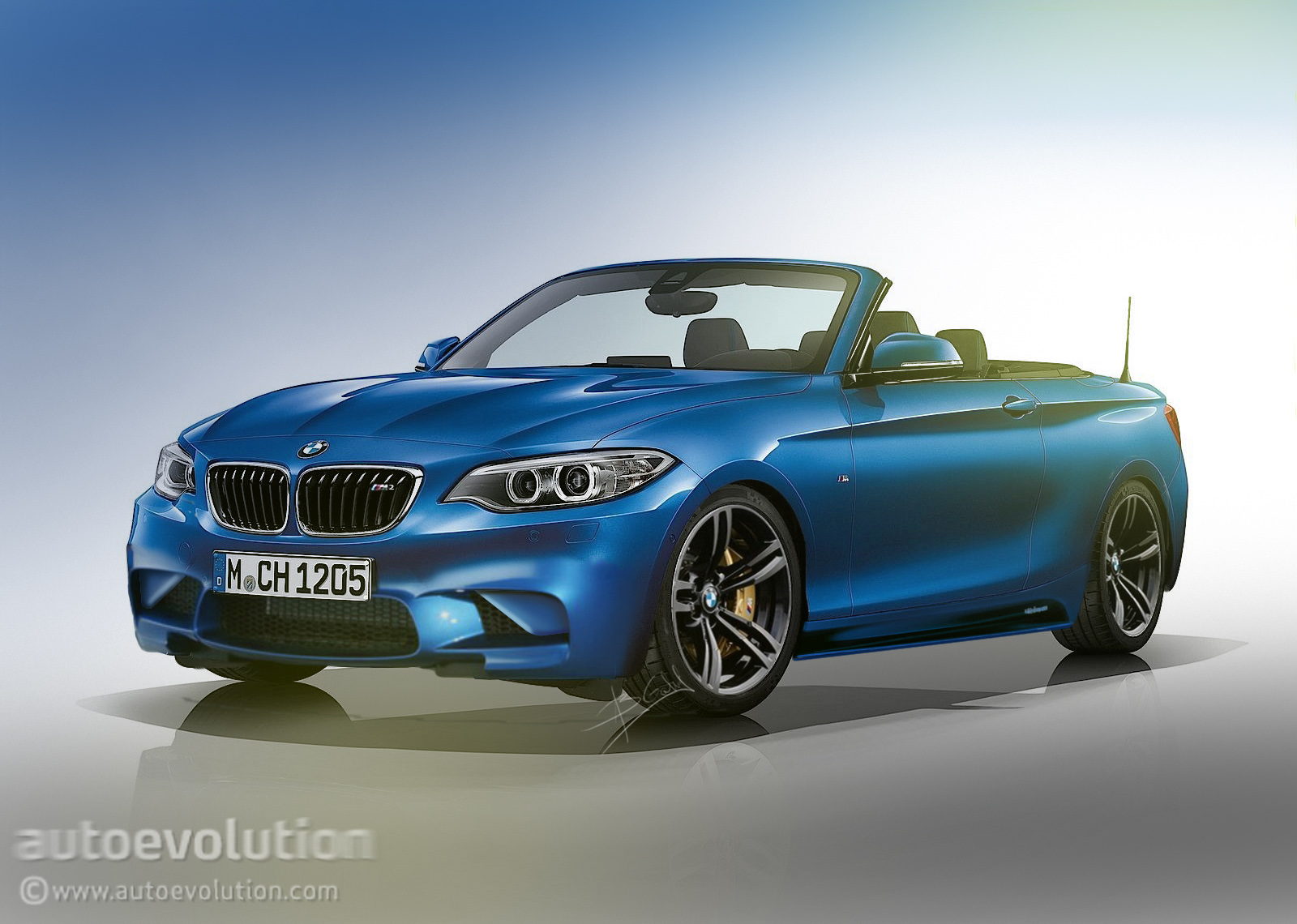 bmw m2 convertible rendered a new age for the performance drop top autoevolution. Black Bedroom Furniture Sets. Home Design Ideas