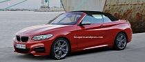 BMW M235i Cabriolet Rendered