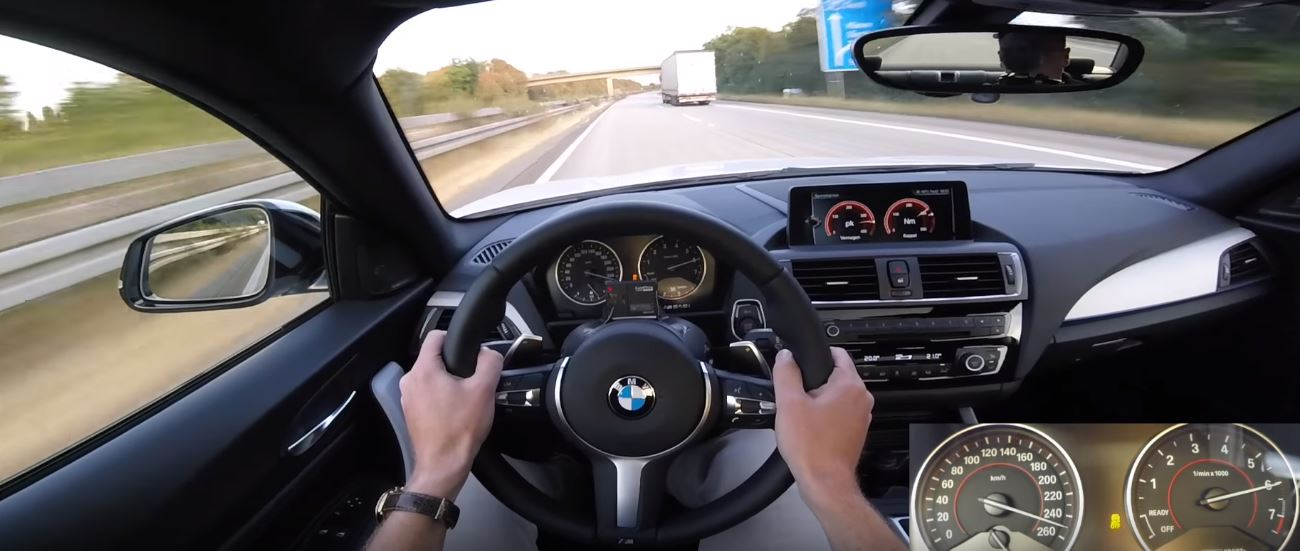 BMW M240i Overtakes Truck at 155 MPH Top Speed during Autobahn ...