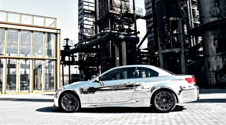 BMW M3 Convertible Boasts Stunning Simple Chrome Wrap in China