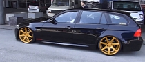 BMW M3 Diesel Touring on Gold Wheels: Wannabe [Video]