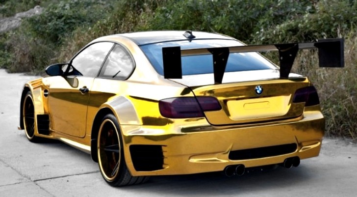 BMW M3 Gets Crazy Gold Wrap and Wide [Photo Gallery]