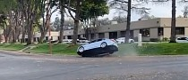 BMW M3 Violently Side Drifts into Curb, Wins Ford Mustang Impersonation Award