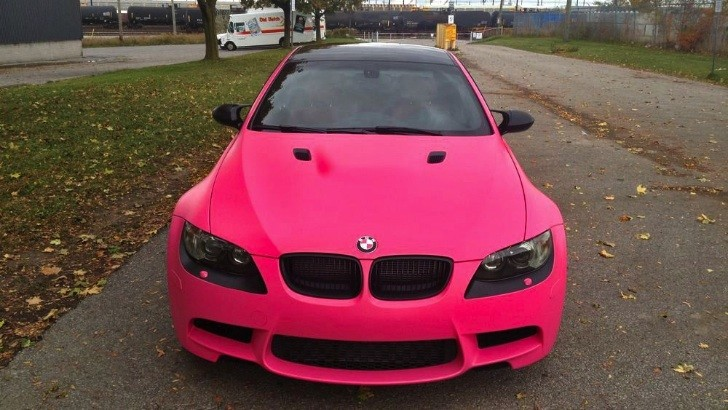 BMW M3 Wrapped in Matte Pink [Photo Gallery]