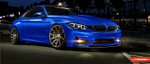 BMW M4 Coupe Rendered on Vossen CV4 Wheels