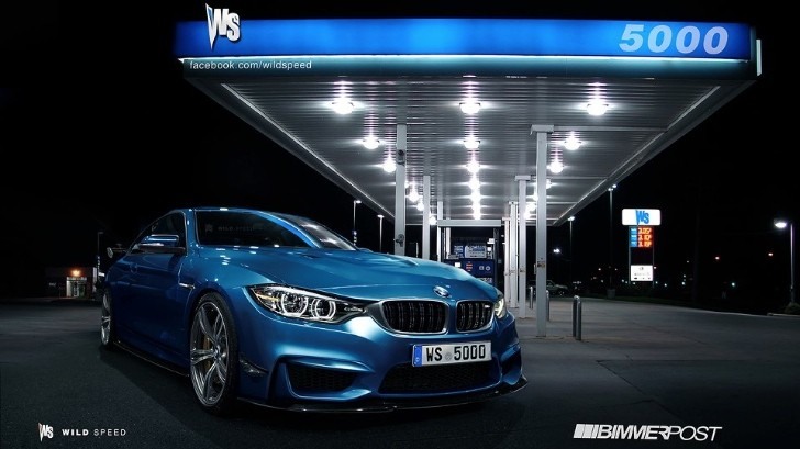 BMW M4 Looking Good at Gas Station: Rendering
