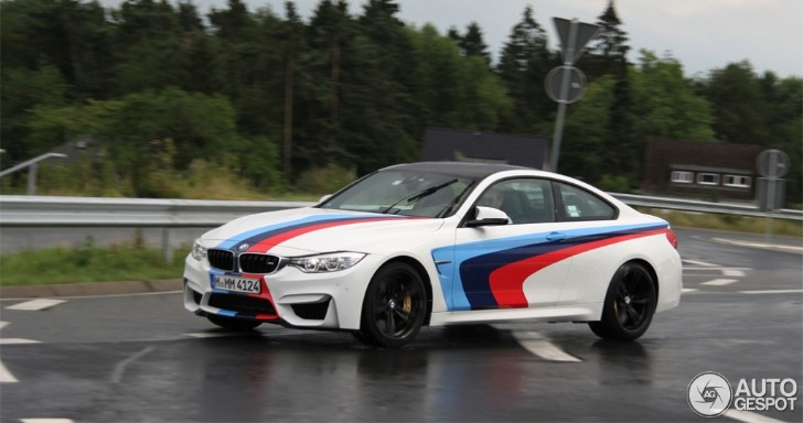 Performance Auto Body >> BMW M4 with M Stripes Spotted in Germany - autoevolution
