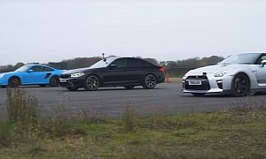 BMW M5 Competition Drag Races Modified GT-R and 997 Turbo S, Demolition Follows