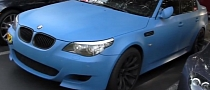 BMW M5 Dressed in Matte Baby Blue [Video]
