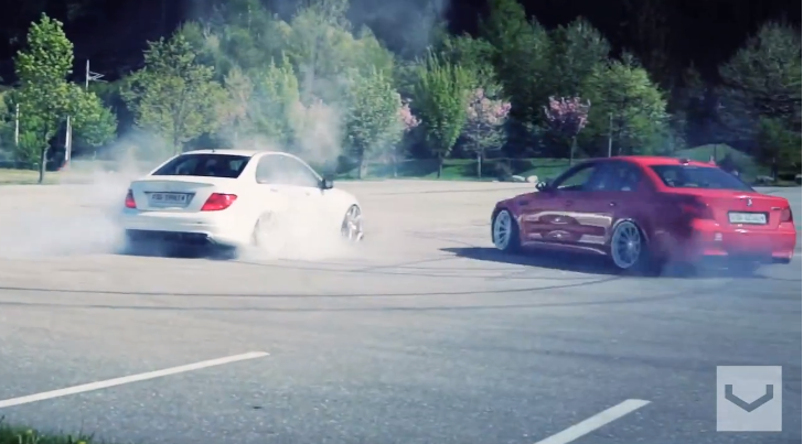 BMW M5 Runs Rings Around C63 AMG at Worthersee [Video]