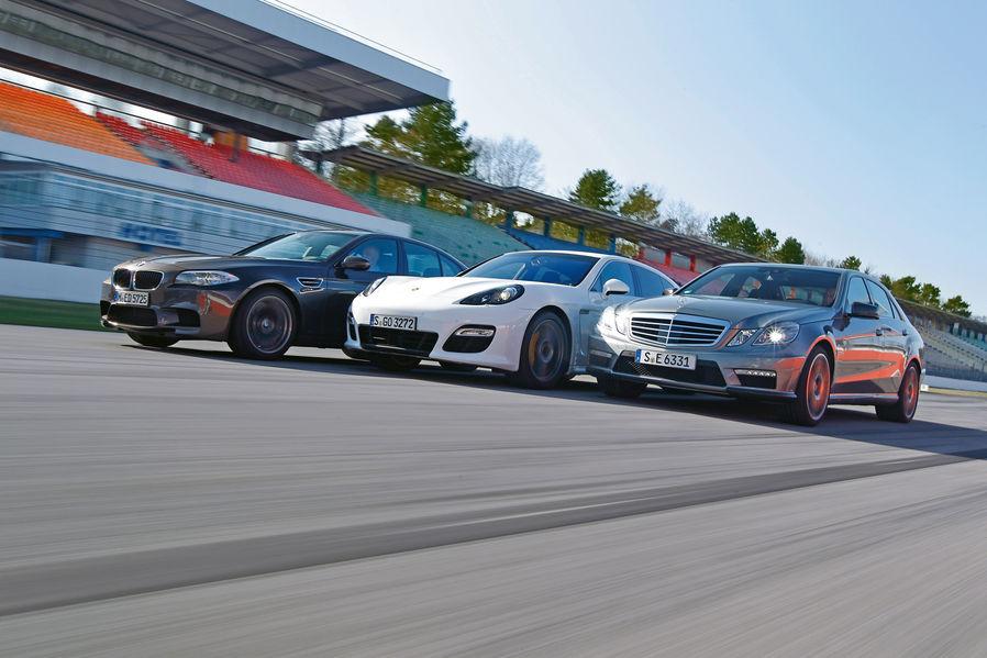 Bmw M5 Vs Mercedes E63 Amg Vs Porsche Panamera Turbo S