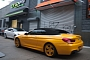 BMW 6-Series Convertible F13 Spotted in Yellow