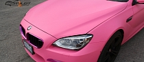 BMW M6 Goes Feminine With Matte Pink Wrap [Photo Gallery]