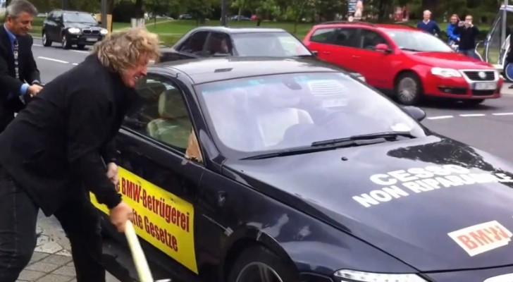 BMW M6 Owner Smashes Car in front of Frankfurt Motor Show [Video]