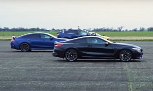 BMW M8 and Audi R8 Beat Tesla Model X in a Drag Race