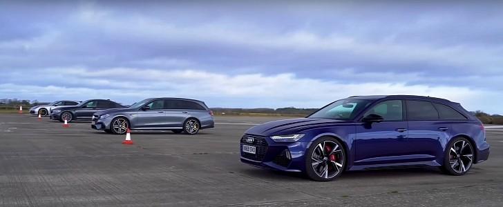 BMW M8 Annihilates Audi RS6, Porsche Panamera and E63 Wagon in Drag Race - autoevolution