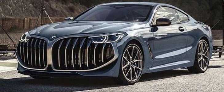 Bmw M850i With Super Sized Kidney Grille Is No Joke Autoevolution
