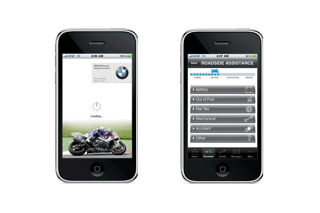 bmw motorcycles launches roadside assistance iphone app. Cars Review. Best American Auto & Cars Review