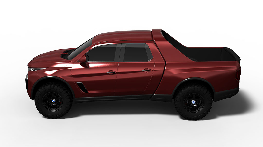 bmw pickup gets rendered as the tough off roader it won t be 121156_1