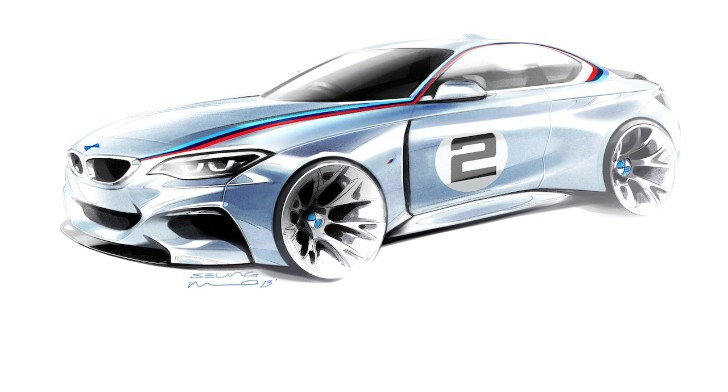 BMW Posts Official Sketch of Motorsport 2 Series Model