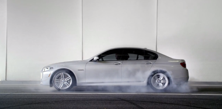 BMW Promotes Diesel MPGs with Burnouts [Video]