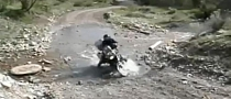 BMW R1200GS Rider Fails to Cross Ankle-Deep Creek [Video]