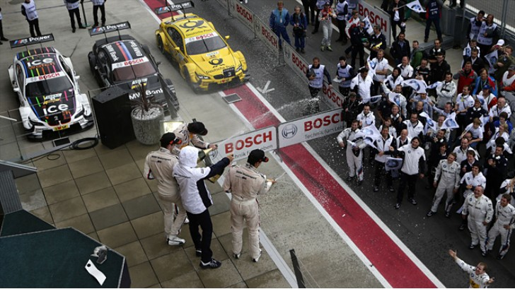 BMW Reaches Tenth One-Two-Three DTM Finish