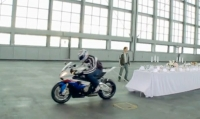 The BMW S 1000 RR does the oldest trick in the world