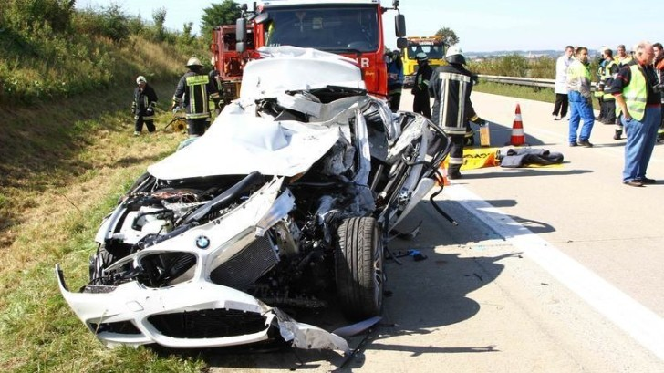 BMW Test Driver Killed in 3-Series Hybrid Prototype Autobahn Crash [Photo Gallery]