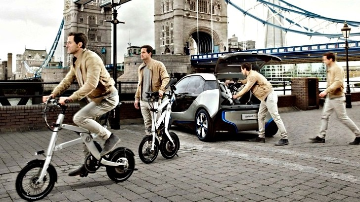 Bmw Unveil Updated I3 Concept With Integrated Bicycle