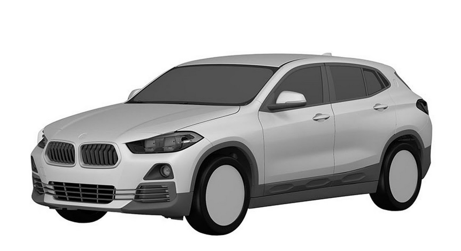 Probable BMW X2 Design Revealed in Patent Application