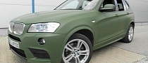 BMW X3 Wrapped in German Army Green