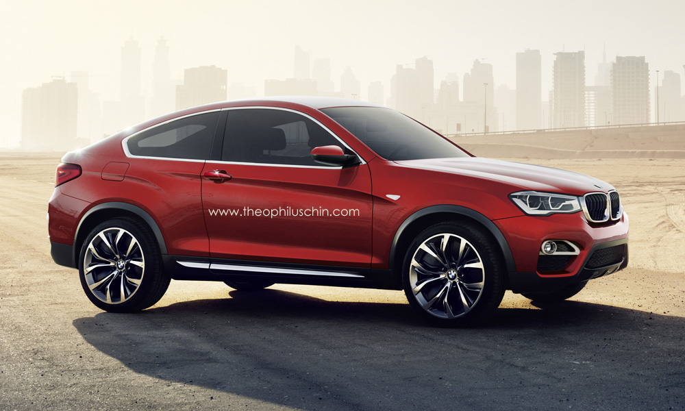 Bmw X4 Looks Really Good As A Red Two Door Autoevolution