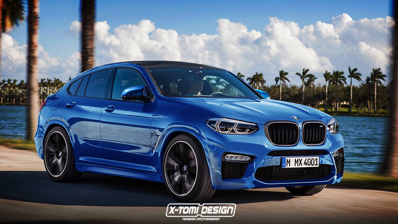 bmw x4 m rendering looks ready for glc 63 coupe autoevolution. Black Bedroom Furniture Sets. Home Design Ideas