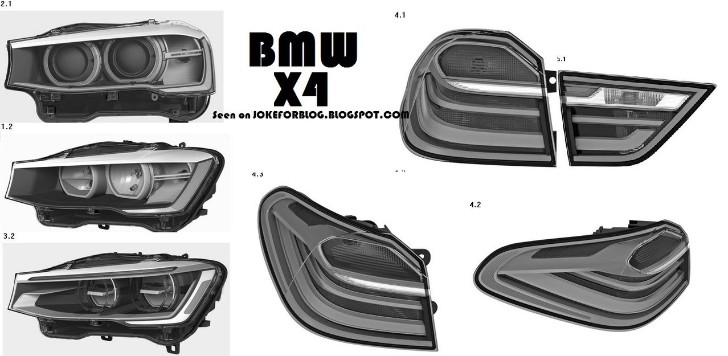 BMW X4 Production Parts Patent Images Leaked