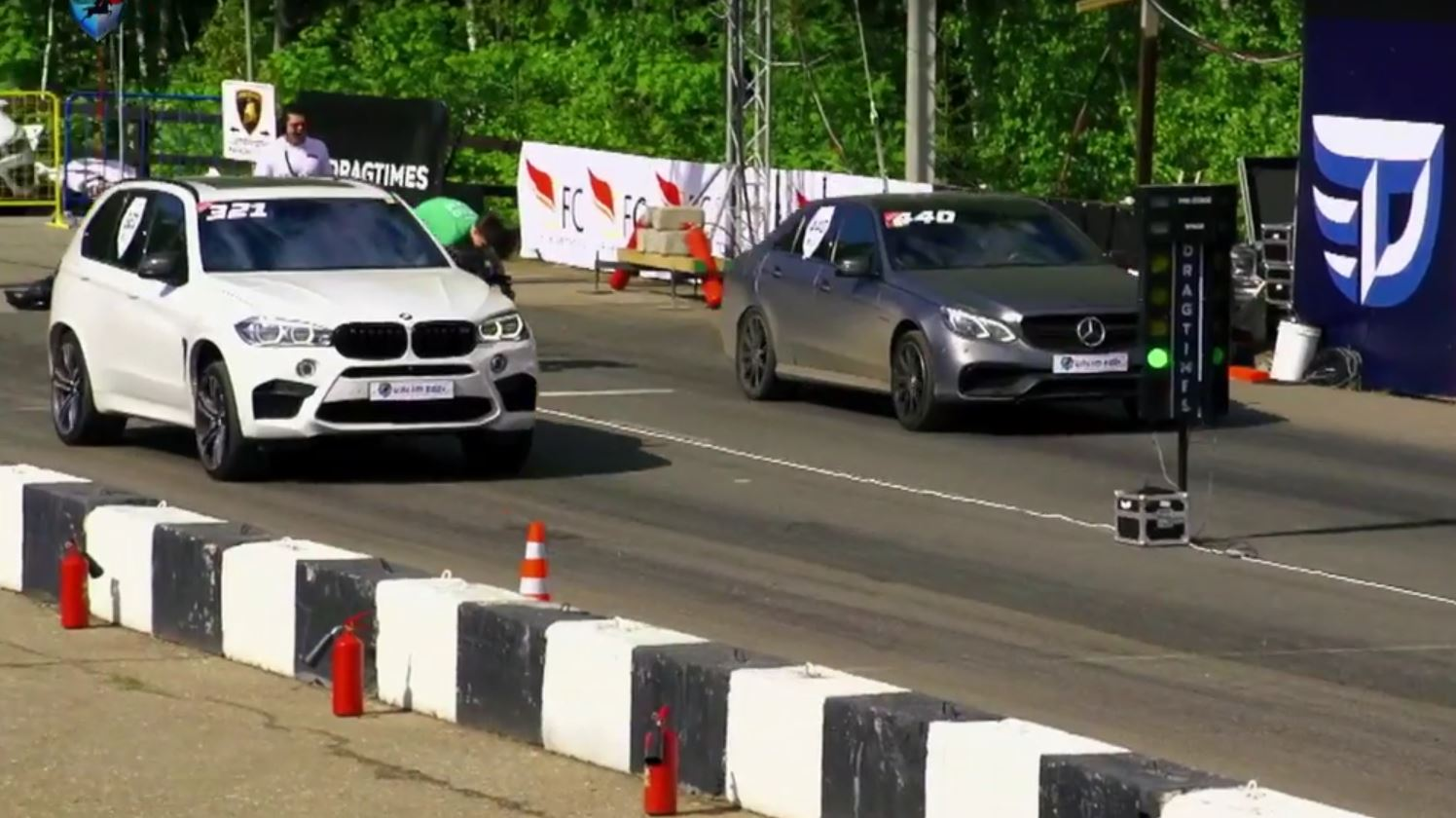 BMW X5 M vs  Mercedes E63 AMG vs  C63 AMG: 750 HP Monsters