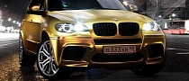 BMW X5 M Wrapped in Gold [Photo Gallery]