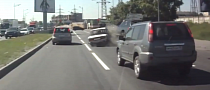 BMW X5 Takes Out Lada[Video]