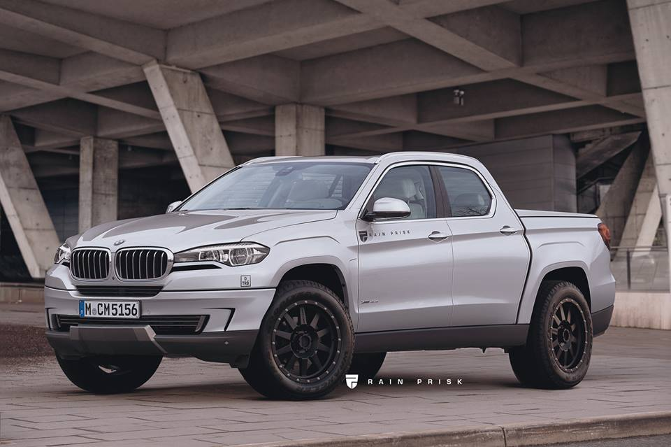 Bmw X5 Pickup Truck Rendered As A Sporty Rival For The
