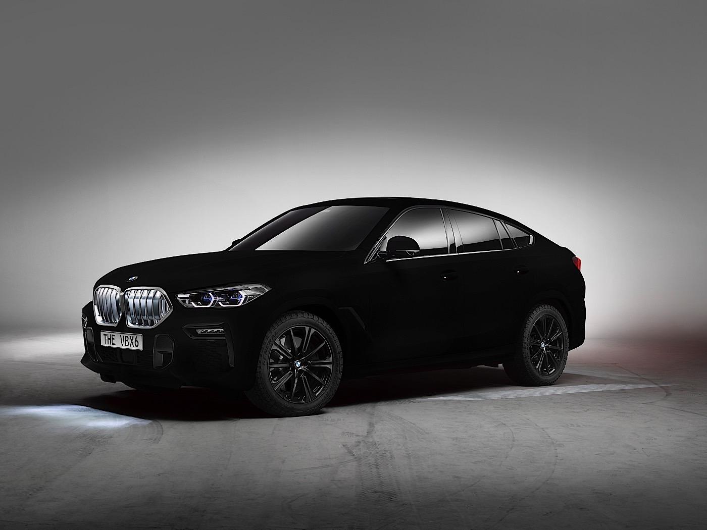 Vantablack paint is so black, this 2020 BMW X6 looks two-dimensional