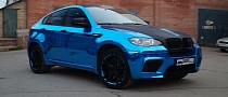 BMW X6 M in Blue Chrome [Photo Gallery]