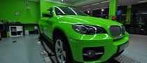 BMW X6 Wrapped in Acid Green [Photo Gallery]