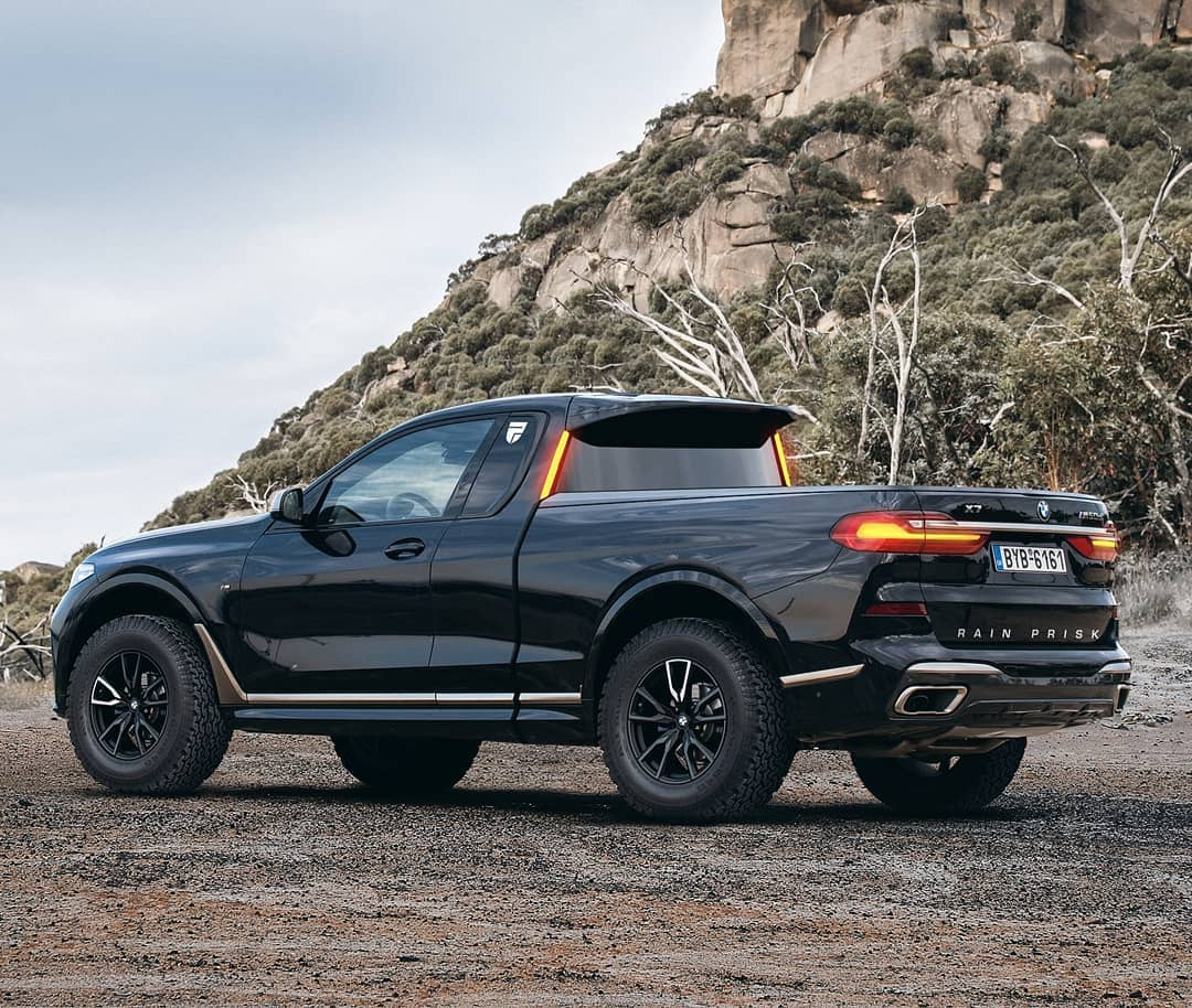Bmw X7 Turned Into Convincing 2 Door Sports Truck Autoevolution