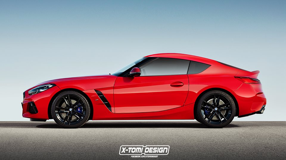 2019 Bmw Z4 Coupe Rendering Is A Toyota Supra Mashup Autoevolution