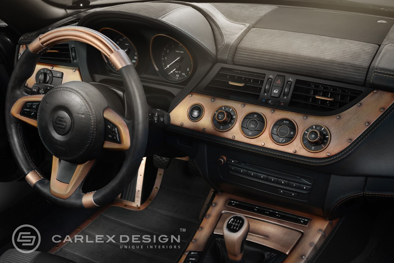 Bmw Z4 Streampunk Interior Is Packed With Copper Plated Goodness Autoevolution