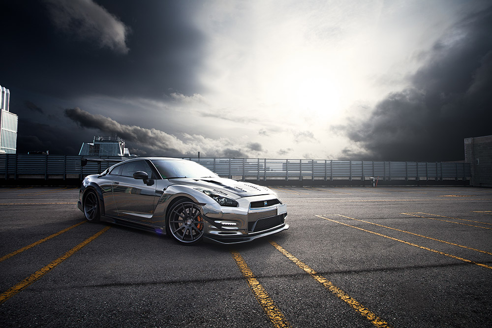Bored Black Chrome Nissan GT R Will Make It Better