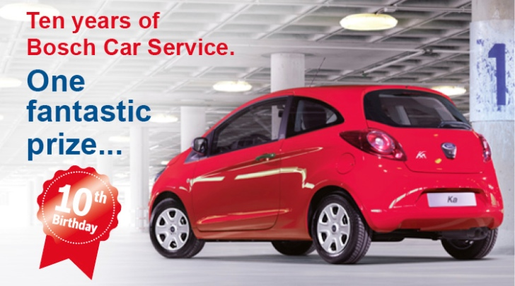 Bosch Car Service Giving Away a Ford Ka in Britain