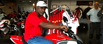 Boxing Star Evander Holyfield Visits UK Ducati Dealer, Dreams at Diavel